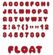 Lifestyle Crafts QuicKutz Alphabet Cutting Die Set FLOAT Balloons  -DA0364