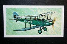 de Havilland Moth   Light Aircraft   Illustrated  Card # EXC