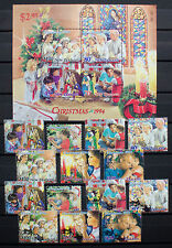 NEW ZEALAND 1994 Christmas set MNH and Used Stamps