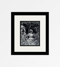 """WILLY MAYWALD 1930s Antique Photogravure """"Child in the Garden"""" FRAMED COA"""