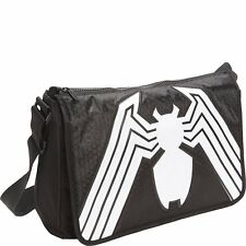 Marvel SpiderMan Logo Venom Messenger Shoulder School Bag Black