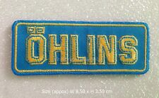Ohlins embroidered iron on patch shocks suspension racing motorcycle cars logo
