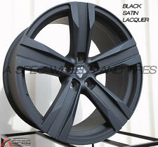 20X8.5/9.5 ZL1 STYLE WHEELS 5X120 MATTE BLACK RIMS FITS CAMARO LS 2010-2013