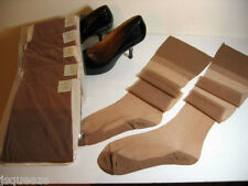 18 PAIRS 1950 FLAT KNIT F/F COTTON SOLES RHT NYLON STOCKINGS NYLONS 9 1/2 X 30""