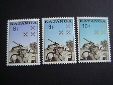 Congo, Katanga, 1960, 1961, Gendarmerie, MNH, Full Set of 3 stamps, Soldiers
