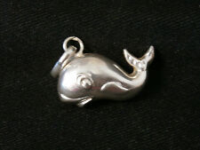 Vintage Whimsical Whale Moby Dick Sterling Silver Pendent/ Charm  Make An Offer!