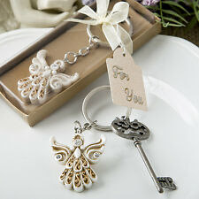1 Vintage Angel Themed Keychain Key Chain Christening Baptism Favor Party Gift