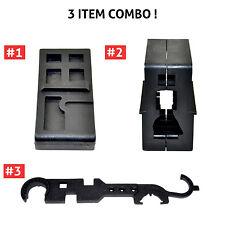 3 Combo! AR15/M4 Armorer's Tool Kits.223 /556 Lower Upper Vise Block & Wrench