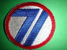 US Army 71st INFANTRY DIVISION Machine Embroidered Patch