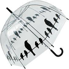 Birds on Wire Clear Dome Umbrella