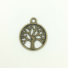 50 DIY Bronze Tone Tree of Life Charm Pendants Breloque Jewelry Making 24x20mm