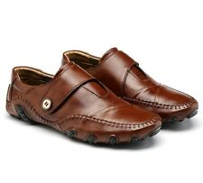 Mens Spring Autumn Soft Genuine Leather Casual Driving Shoes Moccasins Unique A#