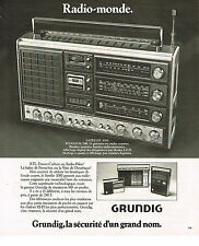 PUBLICITE ADVERTISING 054  1978  GRUNDIG transistor RADIO-MONDE avec RTL satelli