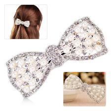 Für Damen:Strass Kristall Schleife Haarschmuck Haarclip Haarklammer Haarschleife