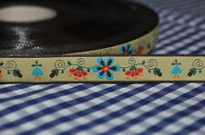 Woven ribbon TENDRIL FLOWER VINTAGE SHABBY COUNTRY 2 Meters Lace Border