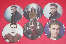 """Vampire Diaries Paul Wesley Set Of  6 LARGE 2 1/4"""" Buttons Pins Party Favors"""