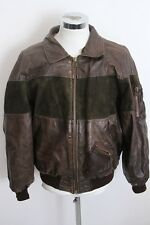 AMERICAN BASIC vintage giubbotto pelle giaccone blouson leather jacket 54 E559