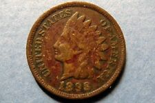 1898  Antique INDIAN HEAD BRONZE CENT Circulated Philadelphia Mint Nice Details