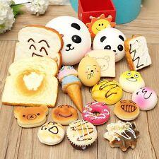 30Pcs Jumbo Medium Mini Random Squishy Panda/Bread/Cake/Buns/Donut Phone Straps