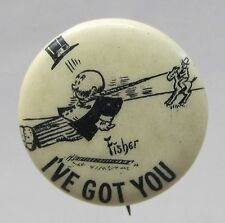 1910 Bud Fisher MUTT & JEFF I've Got You Hassan Cigarettes pinback button