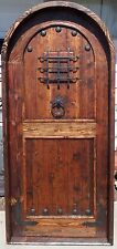 Rustic solid reclaimed lumber arched door speakeasy + wrought iron UR dimensions
