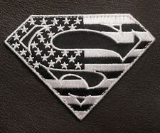 SUPERMAN AMERICAN FLAG USA ARMY TACTICAL ISAF US MILITARY BLACK OPS VELCRO PATCH