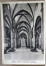 FIRENZE - Basilica di S.Maria Novella - Interno [grande, b/n, viagg. 1942]
