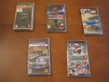 BLOCCO DI 5 GIOCHI PER PSP - TENNIS - MIDNIGHT CLUB - FORMULA ONE 06 - GT - SOCC