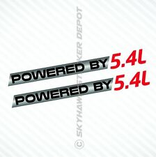 (2X) Powered By 5.4L Sticker Vinyl Decal Fender Decal fits Ford F150 F250 F350