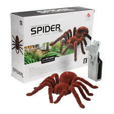 "New Holiday Remote Control 11"" 2CH Infrared Realistic RC Spider Toy Prank Gift"