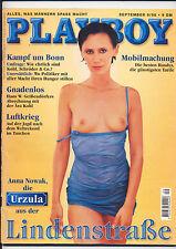 """PLAYBOY-SEPTEMBER 1998-LINDENSTRASSE """"URZULA"""" ANNA NOWAK -EROTISCHE BILDER-9/98"""