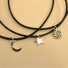 Korea fashion wild multi - layer velvet necklace Moon / Star / Sun modeling