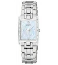 "Citizen Women's EG3170-54D ""Stiletto"" Diamond-Accented Stainless Steel Eco Drive"
