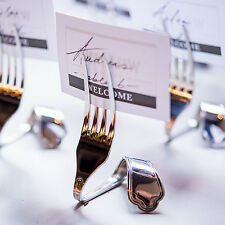 8 Twisted Fork Metal Place Card Holders Bridal Shower Wedding Favors