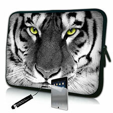 "Tiger Neoprene Case Bag pouch For Galaxy Tab 2 10.1"" p5100 p5110 & Screen Pro"