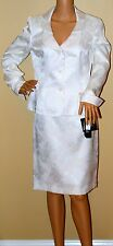 $200 New Kasper Le suit Tuileries Vanilla Ice Shimmer Skirt Suit Blazer Career 8