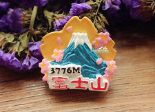 Fujiyama, Sakura, Japan Travel Souvenir 3D Resin Fridge Magnet Craft GIFT IDEA