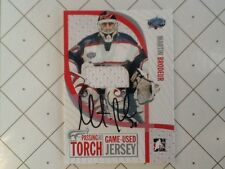 2005 ITG  Passing The Torch Martin Brodeur game used jersey autograph