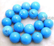 """SALE Big 20mm Blue Round TURQUOISE beads strand 15""""-los458"""