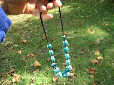 Natural Tibetan Turquoise Bead necklace Nepal Jewelry art A65