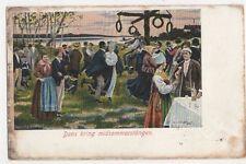 Sweden, Dans Kring Midsommarstangen Postcard, B147