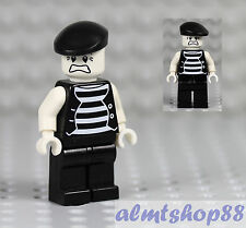 "LEGO - Mime Minifigure ""Scared Face"" Clown Circus Actor Minifig Series 2 Custom"