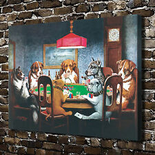 "18""x24"" HD Canvas print Home decor painting (No frame) Dogs Playing Poker #0360"