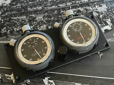 NICE 2X OMEGA STOPWATCHES CLASSIC RALLY SET DASH MOUNTED - HEUER MONTE CARLO BMW