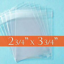 "200 Clear Cello Bags 2.75 x 3.75 inch (ATC/ACEO Trading Cards ), 2 3/4"" x 3 3/4"""