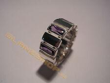 MEXX Damenring Ring violette lila Steine Zirkonia Besatz Gr.18 / 56 / 180 NEU