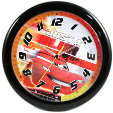 "DISNEY CARS LIGHTNING MCQUEEN DECORATIVE KIDS 10"" ROUND WALL CLOCK NEW"