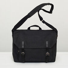 "Alleato Capellino Satchel-AO 15 ""MacBook Pro Canvas Satchel In Nero Nuovo con etichetta"
