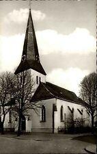 Neukirchen Kreis Moers alte Postkarte~1950/60 Straßenpartie an der Dorfkirche