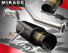 "FOR 89-94 NISSAN 240SX S13 KA24/SR20 3"" GUNMETAL TURBO CATBACK EXHAUST 4.5 TIP"